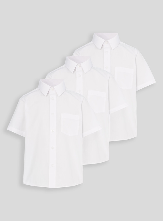 White School Short Sleeve Shirts 3 Pack (3-16 years)