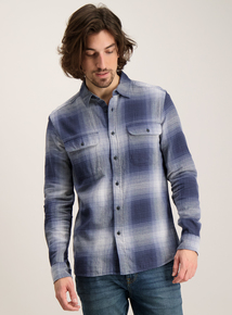 Blue Ombre Check Shirt
