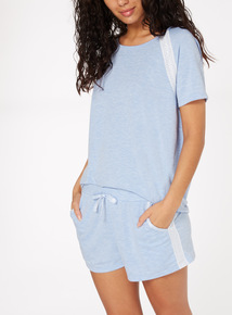 Marl Lace Trim Short PJ Set