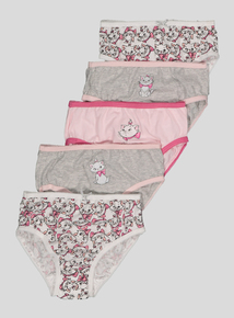 Disney Marie Aristocat Pink Briefs 5 Pack (18 months-8 years)