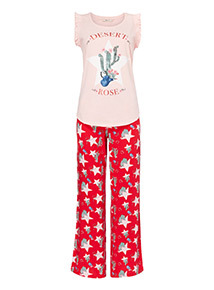 Cactus Print Pyjama Set