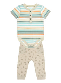 Multicoloured Bodysuit And Joggers Set (0 - 24 months)