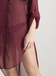 Burgundy Cover-Up Shirt