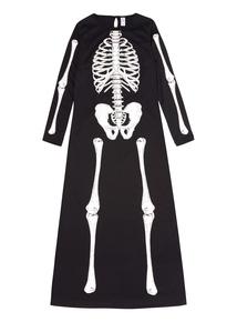 Adult Black Skeleton Dress Costume