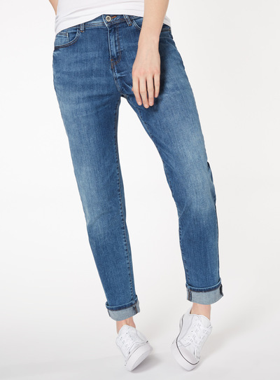 Mid Denim Girlfriend Jeans