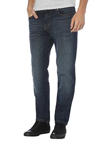 Blue Slim Mid Wash Stretch Denim Jeans