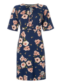 Multicoloured Floral Pattern Tunic