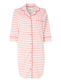 Stripe Print Nightshirt
