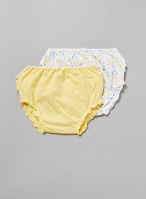 2 Pack Blue Frilly Knickers (Newborn - 36 months)