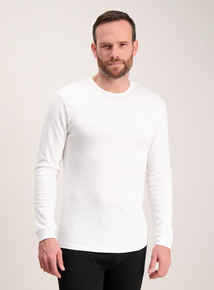 White Thermal Long Sleeve T-Shirt