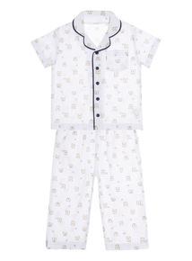 White Woven Pyjama Set (0 - 24 months)