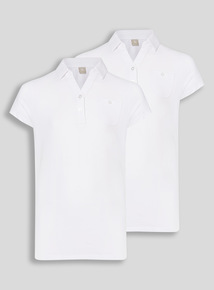 White 2 Pack Fashion Polo Jersey (10-16 years)