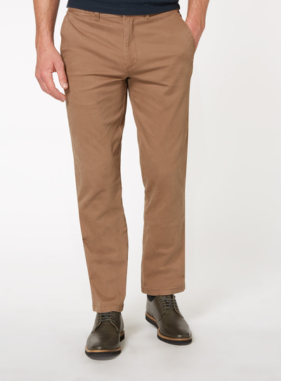 Coffee Brown Straight Chino Trouser