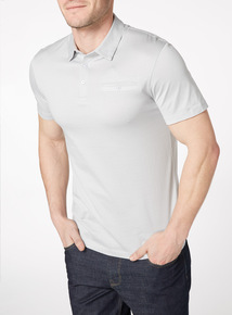 Grey Mercerised Polo Shirt