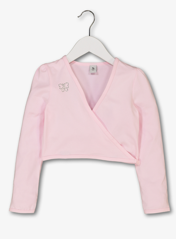 Pink Ballet Wrap Top (2-10 years)
