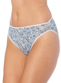 Blue Floral High Leg Briefs 5 Pack
