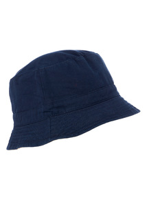 Navy and Stone Reversible Bucket Hat