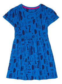 Blue Alphabet Jersey Dress (9 months-6 years)