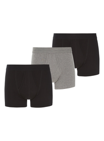 Black and Grey Marl Trunks 3 Pack