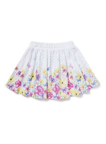 Multicoloured Floral Printed Lace Skirt (3-14 years)