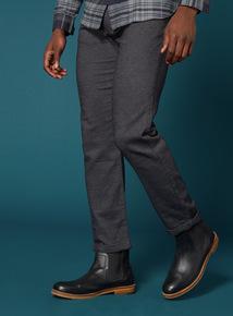 Premium Charcoal Pleat Chino Trousers