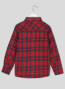 Christmas Red Tartan Checked Long Sleeve Shirt (3-14 years)