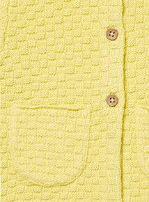 Yellow Textured Cardigan (0-24 months)