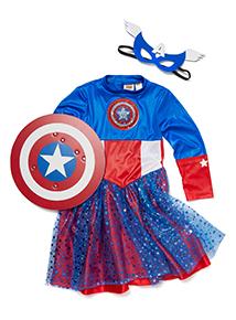 Kids Multicoloured Captain America Costume