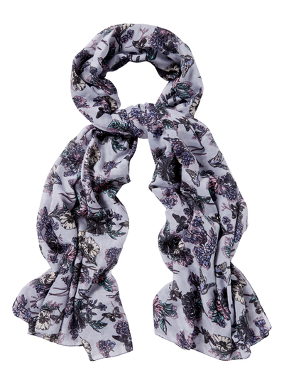 womens purple butterfly floral scarf tu clothing