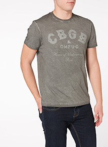 Grey Washed CBGB Tee