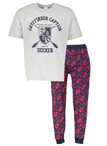Grey and Navy Harry Potter Gryffindor Pyjamas