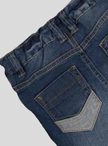 Blue Denim Jeans With Adjustable Waist (9 Months - 6 Years)
