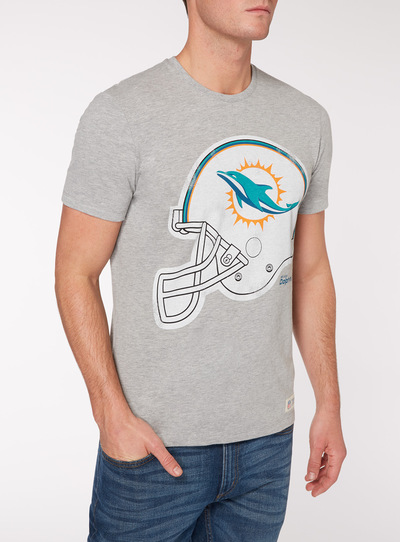 detailed look f744f 9930a SKU: NFL DOLPHINS TEE:Grey