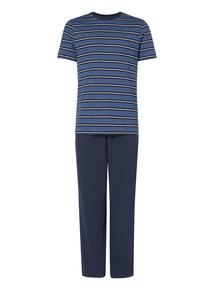 Blue Grindle Stripe Pyjama Set
