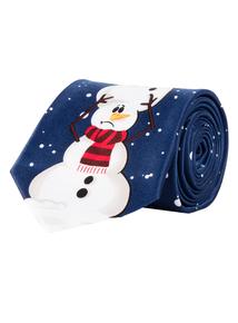 Christmas Navy Snowmen Tie