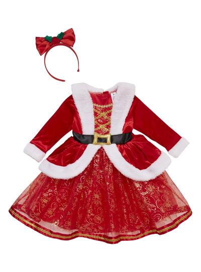 Red Santa Dress for Girls