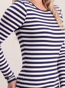 PETITE Multi Stripe Long Sleeve T-Shirt