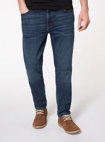 Mid Denim Wash Tapered Jeans