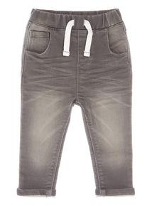 Grey Denim Loopback Jeans (1-24 months)