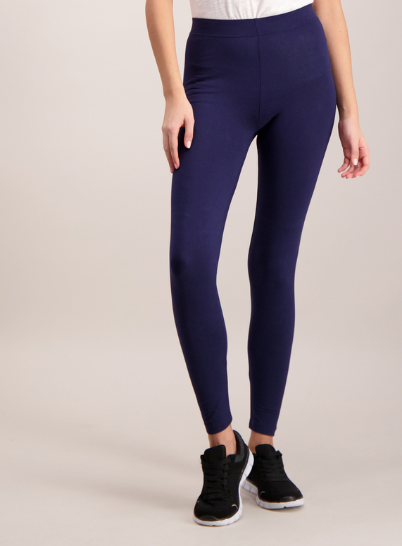 cc83944a9 Womens Navy Luxurious Soft Touch Leggings