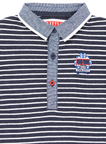 Navy Striped Fire Engine Polo Shirt (9 months-6 years)