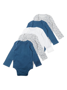 Grey Five Pack Mountain Explorer Bodysuit (0-3 years)