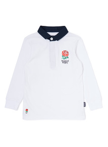 White England Rugby Polo Shirt (1-14 years)