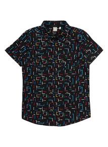 Black Game Pattern Shirt (3 - 12 years)