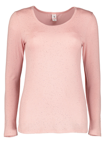 Pink Glitter 'Heat Active' Thermal Crew Neck Top