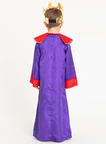 Christmas Nativity Purple King Costume (3-10 years)