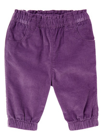 Girls Purple Cord Trousers (0-24 months)