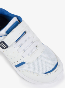 White & Blue Micro-Fresh Trainer (Infant 6-4)