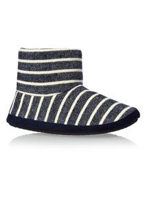 Striped Slipper Boots