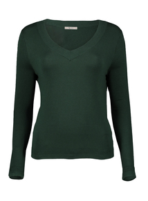 Green V-Neck Jumper